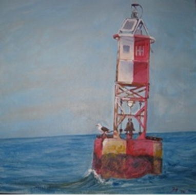 Day 18: the HH buoy, acrylic, 18x18""