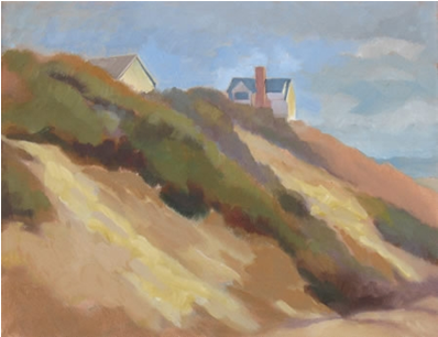 Truro Hillside Cottage, oil on canvas, by Jane Eccles