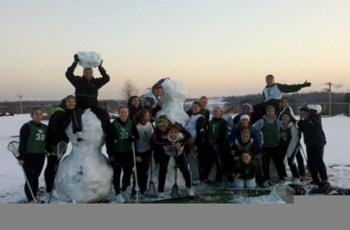 Slippery Rock University's Women's Lacrosse Team Photograph by Stephanie Boosahda
