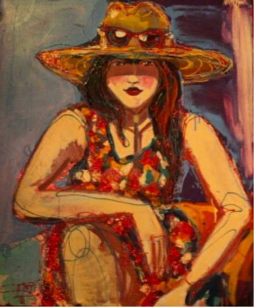 Girl with Hat, by Sarah Holl