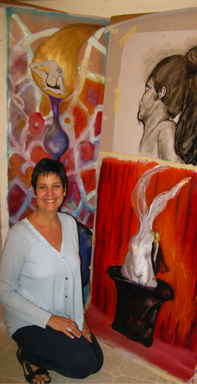 Marie Canaves in her home studio