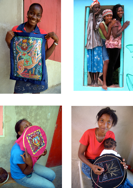 Haitian Artists from the small village of Matènwa use their creativity to help rebuild their community .