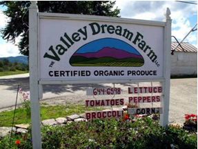 Valley Dream Farm sign