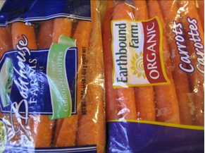 Labeling on organic carrots