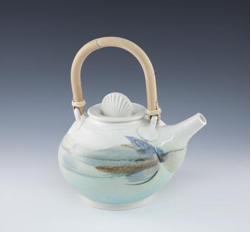 By The Sea, Porcelain Teapot