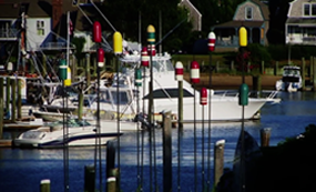 Boats and Buoys at Hyannis Harbor