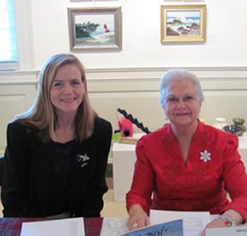 Katie O'Sullivan and Marie Sherman at book signing