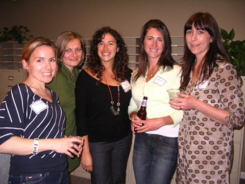 Enjoying an evening with Green Drinks Cape Cod at Horsley Witten Environmental in Sandwich is (L-R) Stacy Hedman, Amanda Converse, Jen Villa, Amanda Crouch-Smith and Amy DuFault