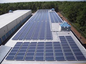 Solar Panel Array at Anchor and Flagship Self Storage facilities in Mashpee